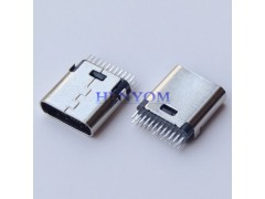 Type-C 母座短体夹板式 24PIN华为乐视180度立式