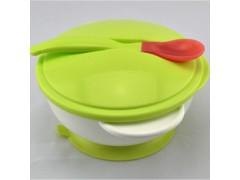 廠家直銷嬰幼兒喂養餐具寶寶輔食防滑吸盤碗感溫勺子套裝批發供應