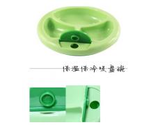 廠家直銷喂養餐具小綠芽兒童保溫碗 嬰兒注水餐具寶寶餐具訓練碗