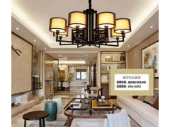 买好的中式创意高档客厅餐厅酒店铁艺吊灯,就选过亿照明灯饰厂——中式吊顶