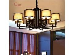 口碑好的中式創意高檔客廳餐廳酒店鐵藝吊燈市場價格|書房吊燈