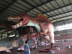 仿真恐龍模型 脊背龍 自然風景區 游樂園 城市廣場