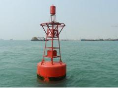 海洋浮標:水上浮標,指浮于水面的一種航標