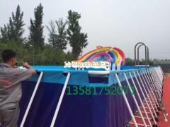 夏季支架水池水上樂園 拆卸式移動水上樂園價格