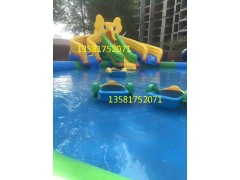 充氣水池水上樂園廠家 大型水上樂園設計 兒童釣魚池沙池