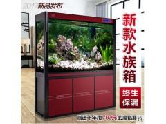 YEE高檔生態水族箱靠墻高清玻璃大型中型底過濾龍魚缸