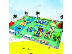 儿童充气游泳池滑梯 水上游乐园设施设备 支架水池游泳池