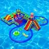 水上乐园大型水滑梯 大型水上乐园支架水池 水上闯关游乐设备