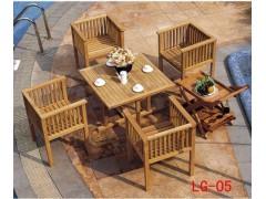 上等木質咖啡廳套椅 花園木制桌椅 實木餐廳椅
