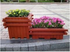 街道进口材质花箱 实木园林花车 组合花箱