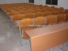 联排课桌椅,高校阶梯教室常用联排课桌椅广东鸿美佳厂家供应