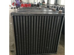 河北工程用翅片管散熱器  戴面罩  高頻焊暖氣片  散熱效快