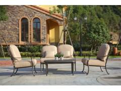 湖南娄底名牌户外家具庭院铸铝桌椅五件套工厂订做报价【千盟】