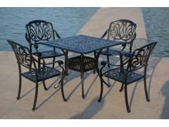湖南郴州圆形铸铝桌椅三件套组合套装订做批发价格【千盟】