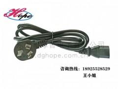 厚普电源线厂家直销国标电源线CCC电源线三插孔品字尾1.5M