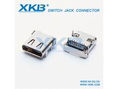 高品质TYPE-C 3.1 母座前插后贴 贴片型母座连接器