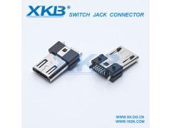MICRO 5P公头 USB连接器 立式垂直