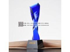 广州经销商大会水晶奖杯,十佳经销商水晶奖杯制作