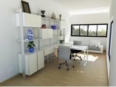 雷诺帝娅百变书架书桌组合环保板材书架现代简约书组装架书桌定制