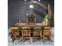 老船木家具,老船木茶桌功夫茶臺,實木仿古茶幾茶藝桌