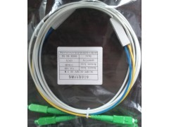 皮线光纤跳线 SC-APC皮线双芯四个头光纤跳线生产厂家