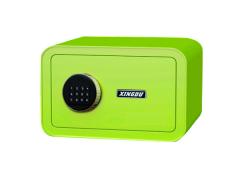 新品彩色小壁柜家用酒店電子指紋迷你小型家用全鋼保險柜保險箱