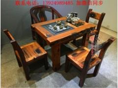 老船木茶桌椅組合船木茶桌茶臺茶幾客廳中式功夫茶桌沉船木泡茶臺