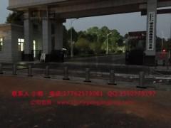 半自动升降路桩 汉口火车站升降路桩厂家 钢精灵升降路桩