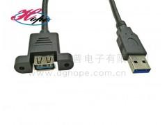 厚普USB3.0公对母延长线无环带耳朵usb3.0线材