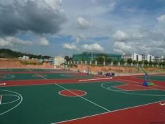 大连市水性硅pu篮球场材料供应与施工、优质价廉!