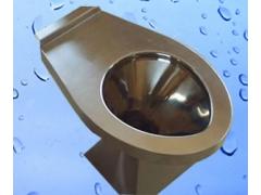不锈钢坐便器采用脚踏式冲水方式