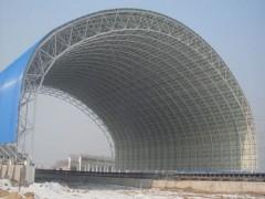 山西大同东方网架公司专业承揽各种矸煤棚网架、煤仓网架防尘墙