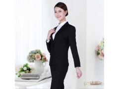 湖南工作服定制藏青色女西服两件套西装一件代发
