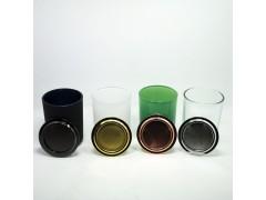 玻璃烛台 烛杯 喷色雕刻喷砂花纸玻璃后道加工厂