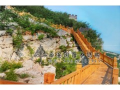 防腐木长廊专业厂家 木制护栏