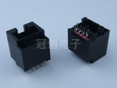 台阶式RJ45 8P8C SMT/TH型 无香菇角 网络插座