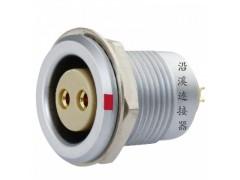 沿溪連接器2芯母插座推拉自鎖航空件檢測設備儀器儀表汽車接插件