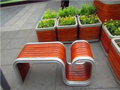 信阳塑木花箱,信阳户外塑木花箱批发,河南信阳圆形塑木花箱