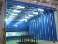 移動式伸縮噴漆房 工業車間噴漆軌道式移動伸縮房