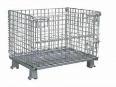 天津廠家直銷金屬周轉箱定制折疊式倉儲籠倉庫鍍鋅鐵籠